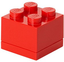 LEGO Brotdose 1 x 4 rot