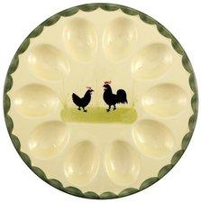Zeller Keramik Hahn & Henne Eierteller (25 cm)