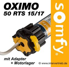 Somfy Funk-Rohrmotor Oximo 50 RTS 15/17