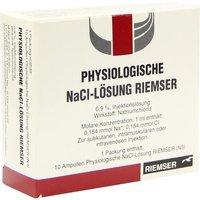 RIEMSER Kochsalzlösung Physiologisch Amp. (10 x 1 ml)