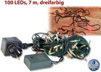 Lunartec Lichterkette 100 Multicolor LEDs