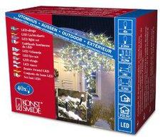 Konstsmide Micro-Lichterkette schwarz weiß 40 LEDs (3610-200)