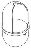 Hewi Serie 477 WC-Bürstenbehälter