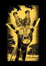Mammut Scraper Kratzbild mini gold Giraffe