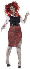 Zombie Schulmädchen Halloween Kostüm