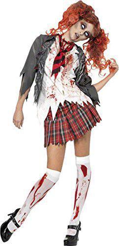 zombie schulmadchen halloween kostum