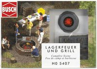 Busch 5407 - Lagerfeuer   Grill