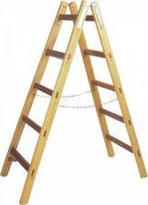 Leifheit Unimet Holz Doppelsprossen Leiter 2 x 5