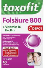 taxofit Folsäure+ Metafolin 800 Depot Tabletten (40 Stk.)