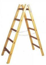 Leifheit Unimet Holz Doppelsprossen Leiter 2 x 4