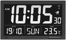 TFA Dostmann Funk Uhr mit Innenthermometer 60.4505