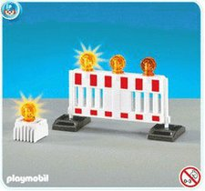 Playmobil Absperrbake mit Warnlampe (7453)