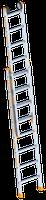 layher Topic 1035 Schiebeleiter mit Kopffahrwerk 2x8 Sprossen
