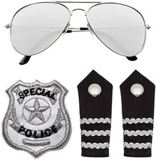 US Cop Karnevalskostüm