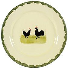 Zeller Keramik Hahn und Henne Teller 21 cm
