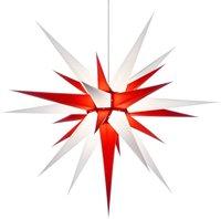 Herrnhuter Sterne Stern rot weiß Innenbereich (80 cm)