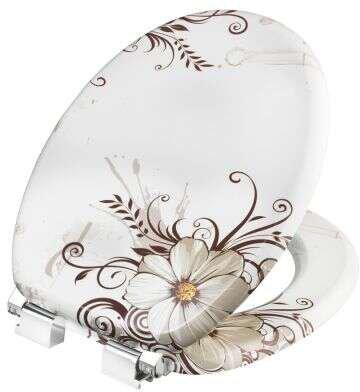 Cornat Brown Flower WC-Sitz mit Absenkautomatik