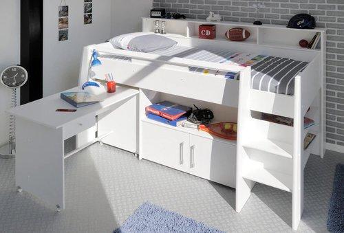 parisot hochbett swan mit schreibtisch preisvergleich ab 450 31. Black Bedroom Furniture Sets. Home Design Ideas