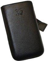SunCase Handytasche Vollnarbig Schwarz (Samsung Galaxy S Advance)