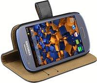 Mumbi Ledertasche Bookstyle für Samsung Galaxy S3 mini