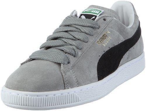 Puma Suede Classic 350734 Herren Sneaker 36 EUGrau Limestone Gray black  white 1d589632b5