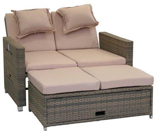 Testrut Bahia Loungesofa 2-Sitzer (Polyrattan)