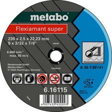 Metabo Flexiamant Super Stahl A 36-T 125 x 2 x 22,23 mm (6.16107.00)