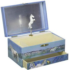 Trousselier Musical Jewellery Box Horses Camargue (60621)