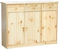 Steens Furniture Ltd Mario 025/19 Sideboard natur lackiert 3 Türen 3 Schubladen