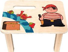 Hess Spielzeug Fußbank Pirat