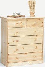 Steens Furniture Ltd Mario 013/19 Kommode natur lackiert 2+4 Schubladen