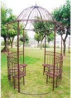 Dema Antik-Pavillon mit Bänken 2 x 2 m