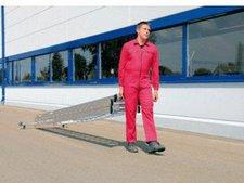 Steigtechnik Aluminium-Seilzugleiter mit roll-bar-Traverse, 3x14 Sprossen, Arbeitshöhe 1080 cm