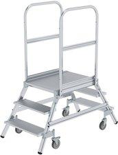Steigtechnik Aluminium-Podestleiter beiseitig begehbar 3 Stufen Arbeitshöhe 270 cm