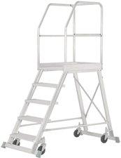 Hymer SC60 Podesttreppe fahrbar einseitig begehbar 6 Stufen Arbeitshöhe 295 cm