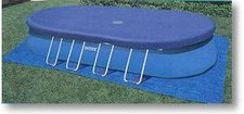 Intex Pools oval Abdeckplane für Oval Frame 610 x 366 x 122 cm