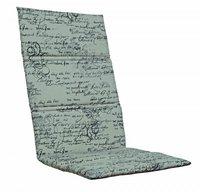 Kettler Klappsesselauflage 123 x 50 cm (Dessin 712: beige/Schrift)
