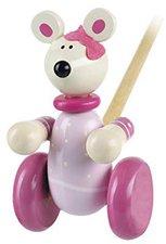 Orange Tree Toys Push-Along Pink Mouse