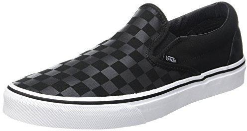 Vans Unisex-Erwachsene Classic Slip-on Low-Top, Schwarz ((Patent Crackle) Black/Black), 38 EU