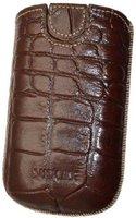 SunCase Ledertasche Croco Braun (BlackBerry Bold 9790)