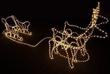 Edco Lichtschlauch Rentiere mit Schlitten