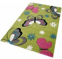 PHC Teppich Schmetterling - grün
