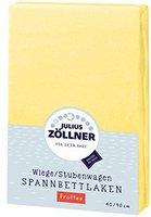 Zöllner Spannbettuch Frottee gelb (40 x 90)