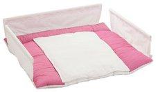 Babybay Wickelauflage für Melina pink/weiß