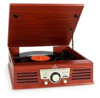 Auna TT-92W Record Player Turntable USB SD AUX FM kirsche