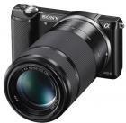 Sony Alpha 5000 Kit 16-50 mm + 55-200 mm (schwarz) (ILCE-5000YB)