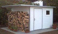 NWS Gartenhaus Pultdach 500 x 150 cm (Stahl)