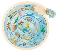 goki Einlegepuzzle Tierkreis