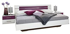 Rauch Doppelbett Burano 2 Nachttischen weiß/Eiche Sonoma (160 x 200 cm)