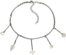 ZEEme Silberfußkette Stern Kreuz Herz (344000010)